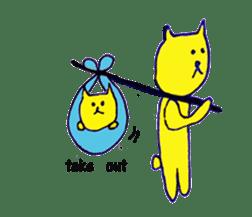 yellow happy cat 3 sticker #872154