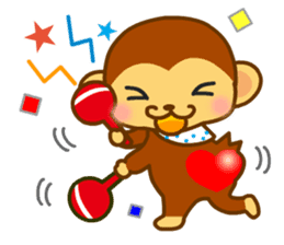 bean size monkey is charming daily life sticker #872528
