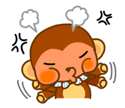 bean size monkey is charming daily life sticker #872531