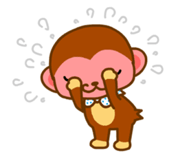 bean size monkey is charming daily life sticker #872533
