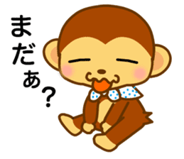 bean size monkey is charming daily life sticker #872539