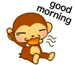 bean size monkey is charming daily life sticker #872548