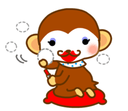 bean size monkey is charming daily life sticker #872549