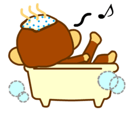bean size monkey is charming daily life sticker #872551