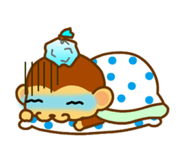 bean size monkey is charming daily life sticker #872552