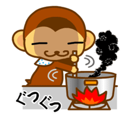 bean size monkey is charming daily life sticker #872553