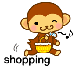 bean size monkey is charming daily life sticker #872555