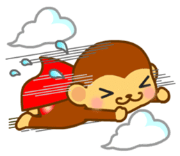 bean size monkey is charming daily life sticker #872558