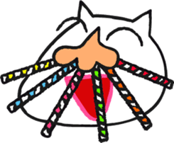Funny cat sticker #874224