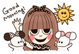 The Girl and Her Friends sticker #877395