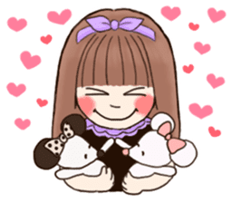 The Girl and Her Friends sticker #877397