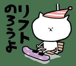 It is a sticker of a skiing & snowboard sticker #880200