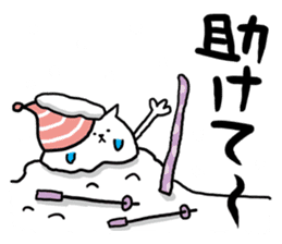 It is a sticker of a skiing & snowboard sticker #880219