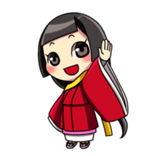 Samurai and princess sticker #880285