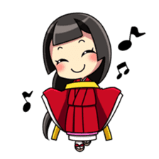 Samurai and princess sticker #880288