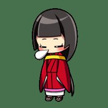 Samurai and princess sticker #880289