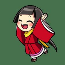 Samurai and princess sticker #880291