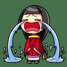 Samurai and princess sticker #880292