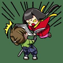 Samurai and princess sticker #880315
