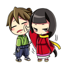 Samurai and princess sticker #880318