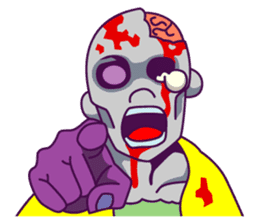 zombie pop sticker #881112