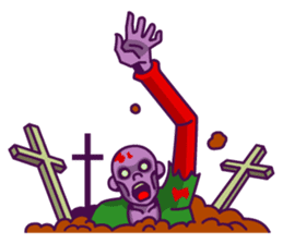 zombie pop sticker #881114