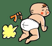 Daddy, please! Cute babies.(Japanese) sticker #881459