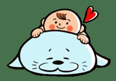 Daddy, please! Cute babies.(Japanese) sticker #881467