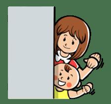 Daddy, please! Cute babies.(Japanese) sticker #881477