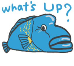 Deepsea fish and sealife English version sticker #881761