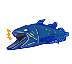 Deepsea fish and sealife English version sticker #881765