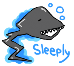 Deepsea fish and sealife English version sticker #881768