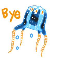 Deepsea fish and sealife English version sticker #881791