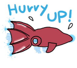 Deepsea fish and sealife English version sticker #881792