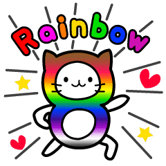 The Story of Rainbow-colored Cat