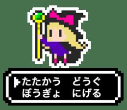 pixel witches sticker #886239