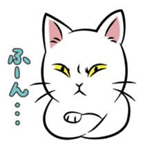 The cat of a fearful face sticker #886448