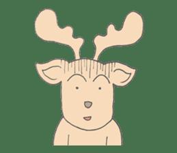 Happy Gay Deer sticker #889607