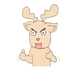 Happy Gay Deer sticker #889610