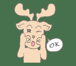 Happy Gay Deer sticker #889611