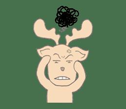 Happy Gay Deer sticker #889623