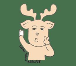 Happy Gay Deer sticker #889625