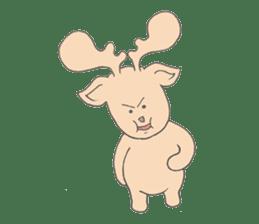 Happy Gay Deer sticker #889631