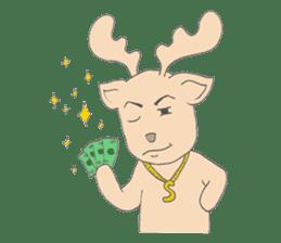 Happy Gay Deer sticker #889635