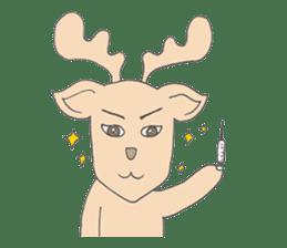 Happy Gay Deer sticker #889636