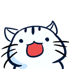 white tabby cat sticker #889719