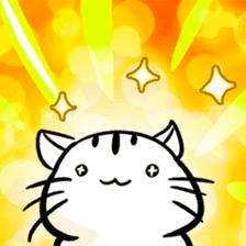 white tabby cat sticker #889725