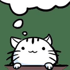 white tabby cat sticker #889726