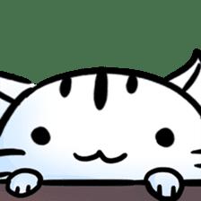 white tabby cat sticker #889727