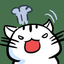 white tabby cat sticker #889729